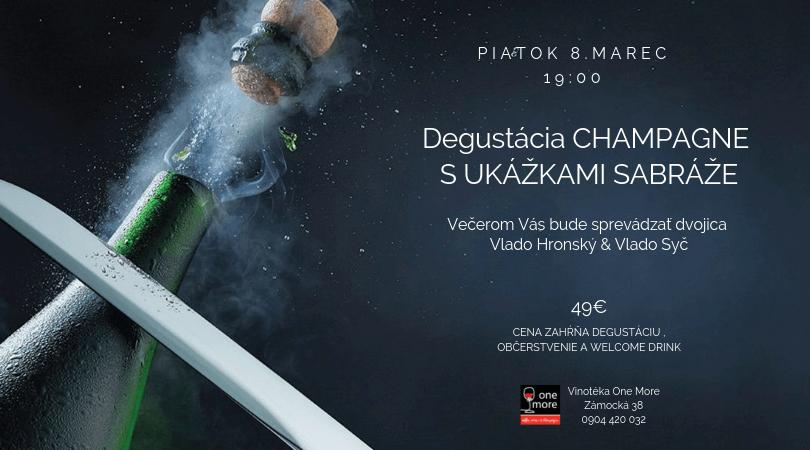 vinotéka degustácia champagne 8.marec 2019 pozvánka