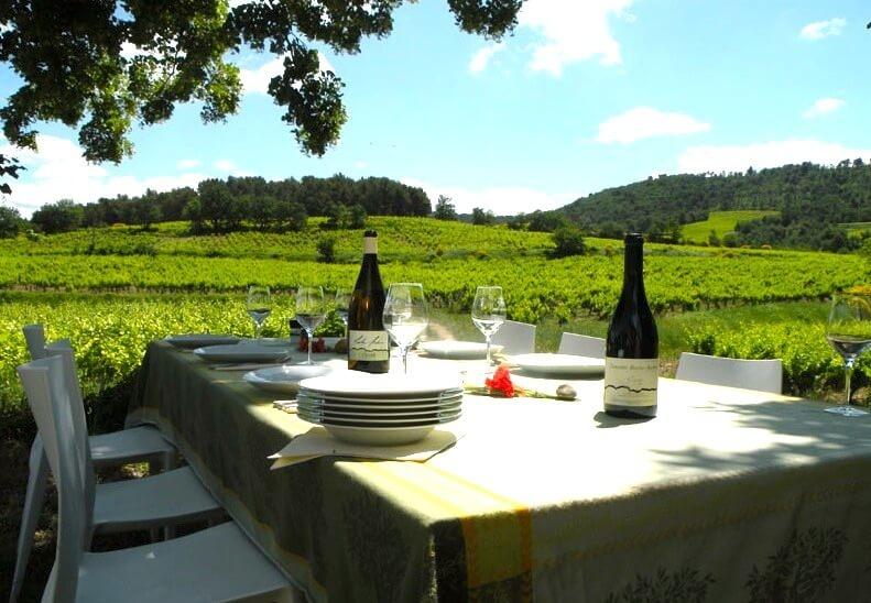 Domaine Roche – Audran wine table