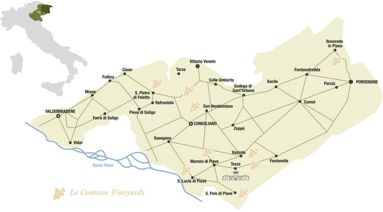 Le Contesse región