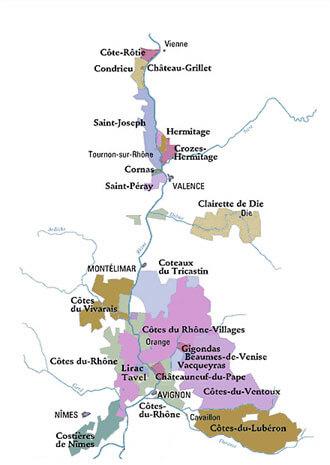 Cave Poulet&Fils mapa regiónu