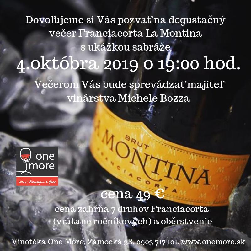 Degustácia Franciacorta La Montina